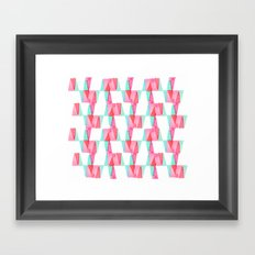 Cheery Triangles Framed Art Print