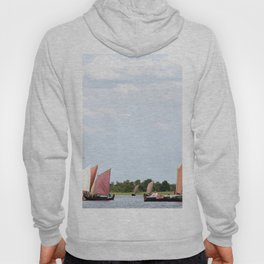Summer sailing on Dutch Frisian lake Hoody