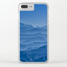 Blue Hima-layers Clear iPhone Case