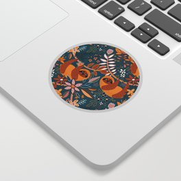 Happy Boho Sloth Floral Sticker