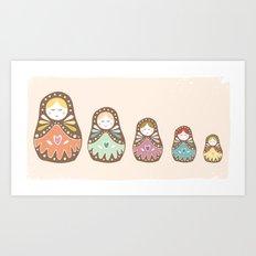 Matryoshka Madames Art Print