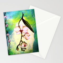 Convergency: Orchid Drapes Stationery Cards