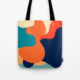 Retro 70's and 80's colorful fluid abstraction Tote Bag