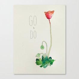 Go & Do by: Madelin Woods (#HeyCreateDaily) Canvas Print