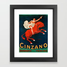 Vintage poster - Cinzano Vermouth Torino Framed Art Print