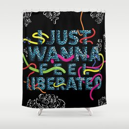 STRETCH OUR HANDS Shower Curtain