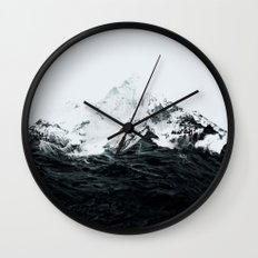 Those waves were like mountains Wall Clock