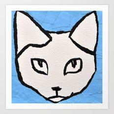 Light Blue Kit head Art Print