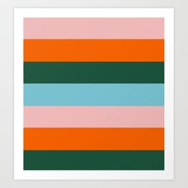Color Stripe_007 Art Print