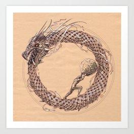 The Ouroboros / Uroboros and Sisyphus Art Print