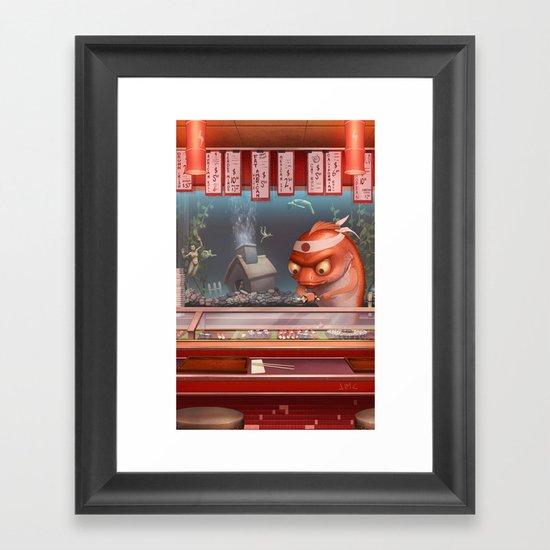 Sushi Fish Framed Art Print