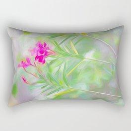 Pink Oleander Flowers Rectangular Pillow
