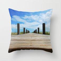 Baldhead island  Throw Pillow