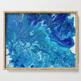 Dark Ocean Blue Serving Tray