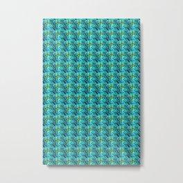 Blue Floral Spring Metal Print
