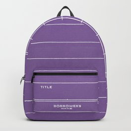 Library Card BSS 28 Negative Purple Backpack
