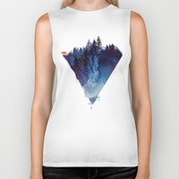 space Biker Tanks featuring Near to the edge by Robert Farkas