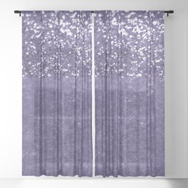 Ultra Violet Glitter Meets Ultra Violet Concrete #1 #decor #art #society6 Sheer Curtain