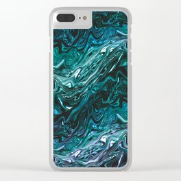 Deep Sea water Clear iPhone Case