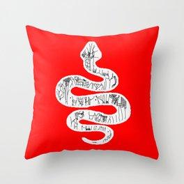 ssssss snake Throw Pillow