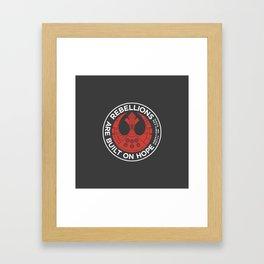 Rebellions are Built on Hope Framed Art Print