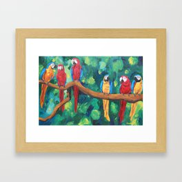 Parrots Framed Art Print