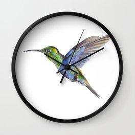 Original Hummingbird Painting Wall Clock
