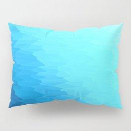 Turquoise Blue Texture Ombre Pillow Sham