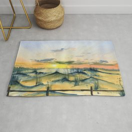 Sunset Over The Dunes Rug