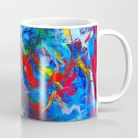 russia Mugs featuring Winter In Russia by Ming Myaskovsky