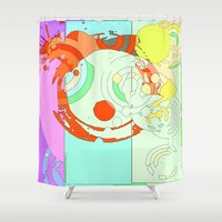 splash Shower Curtains featuring Splash by Iconic Arts