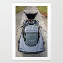 Batvette Above Art Print