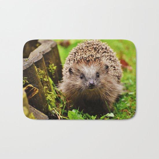 Cute Little Hedgehog Bath Mat