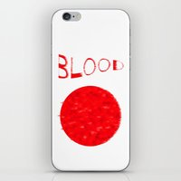 blood iPhone & iPod Skins featuring Blood by Ante Penava