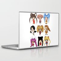 anime Laptop & iPad Skins featuring Anime Pigtails by artwaste