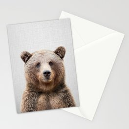 Grizzly Bear - Colorful Stationery Cards