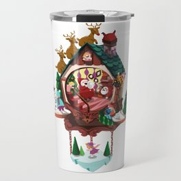 Christmas Cuckoo Clock Travel Mug