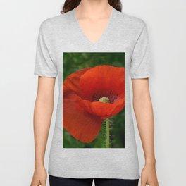 Poppy Unisex V-Neck