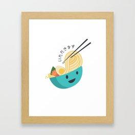 Yummy Ramen Framed Art Print