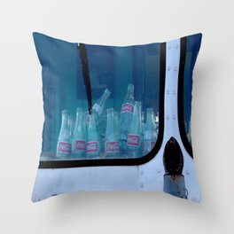 Empty Bottles Empty Dreams Throw Pillow