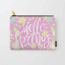 Hello Spring (Soft Peach) Carry-All Pouch