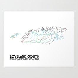 Loveland - South Exposure, CO - Minimalist Trail Art Art Print