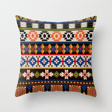 Colourful tribal Aztec patterns Throw Pillow