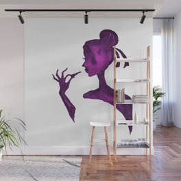 DIVA WITH Lipstick - PAINTED - Gorgeous VIOLET Wall Mural