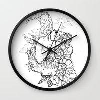 rat Wall Clocks featuring Rat by Ruff Worlock