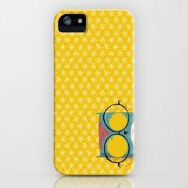 Peeking owl with glasses iPhone Case
