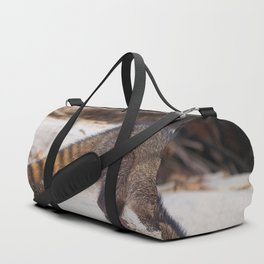 Funny wild racoon feeding in Costa Rica Duffle Bag