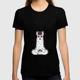 Llama Meditation Namaste T-shirt