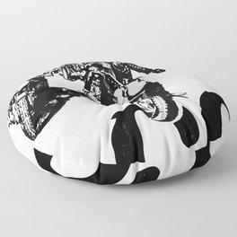 The Horde Motorcycle Art Print Floor Pillow