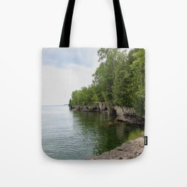 Cave Point County Park Tote Bag
